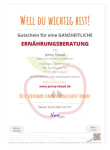 Gutschein Ernährungsberatung